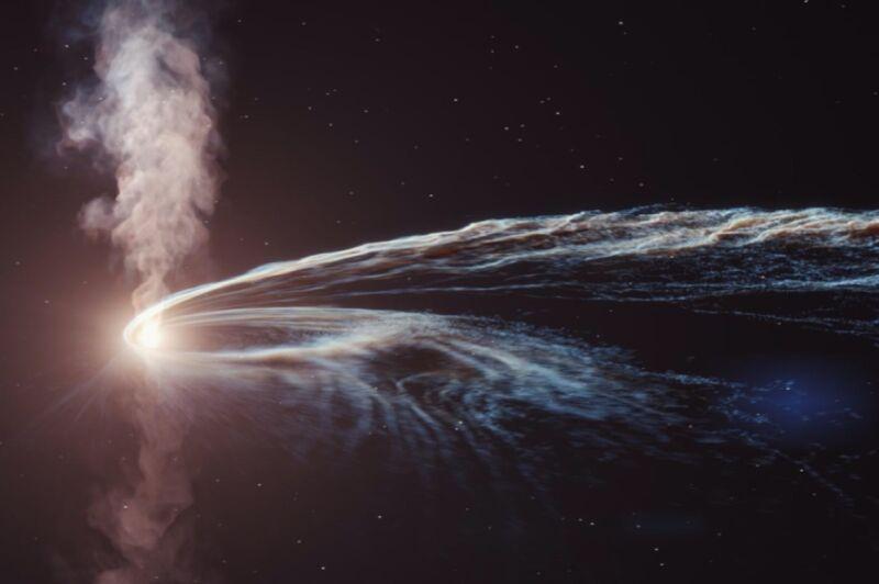 В далекой-далекой галактике 700 млн лет назад родилось нейтрино, рассказавшее нам о гибели звезды из-за черной дыры - 1