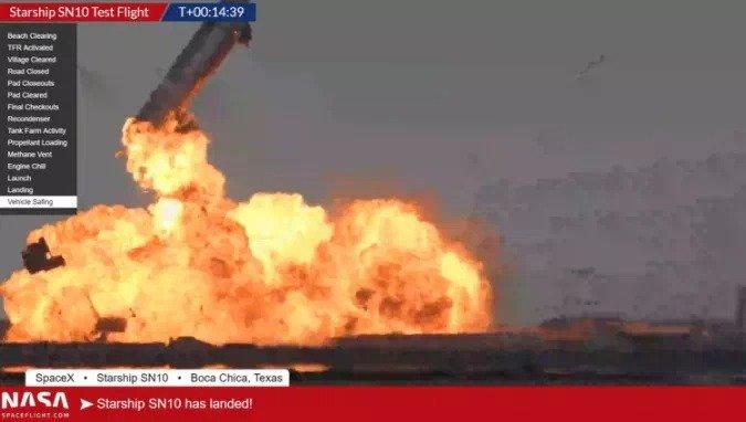 С третьей попытки прототип Starship слетал на высоту 10 км, приземлился… и тоже взорвался
