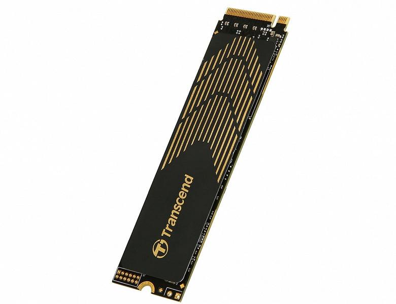 Твердотельный накопитель Transcend MTE240S оснащен интерфейсом PCIe Gen4