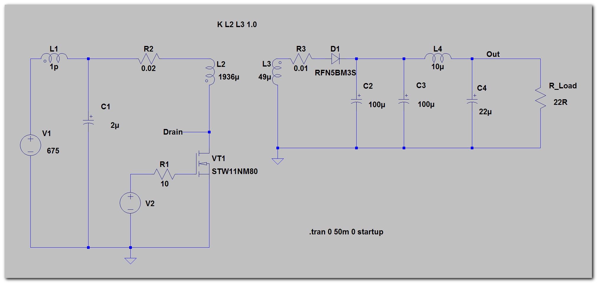 Разработка источника питания от трёхфазной сети 380В - 5