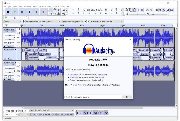 Вышел новый релиз свободного аудиоредактора Audacity 3.0 - 1