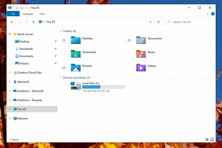 В Windows 10 появились заметные изменения в «Проводнике»