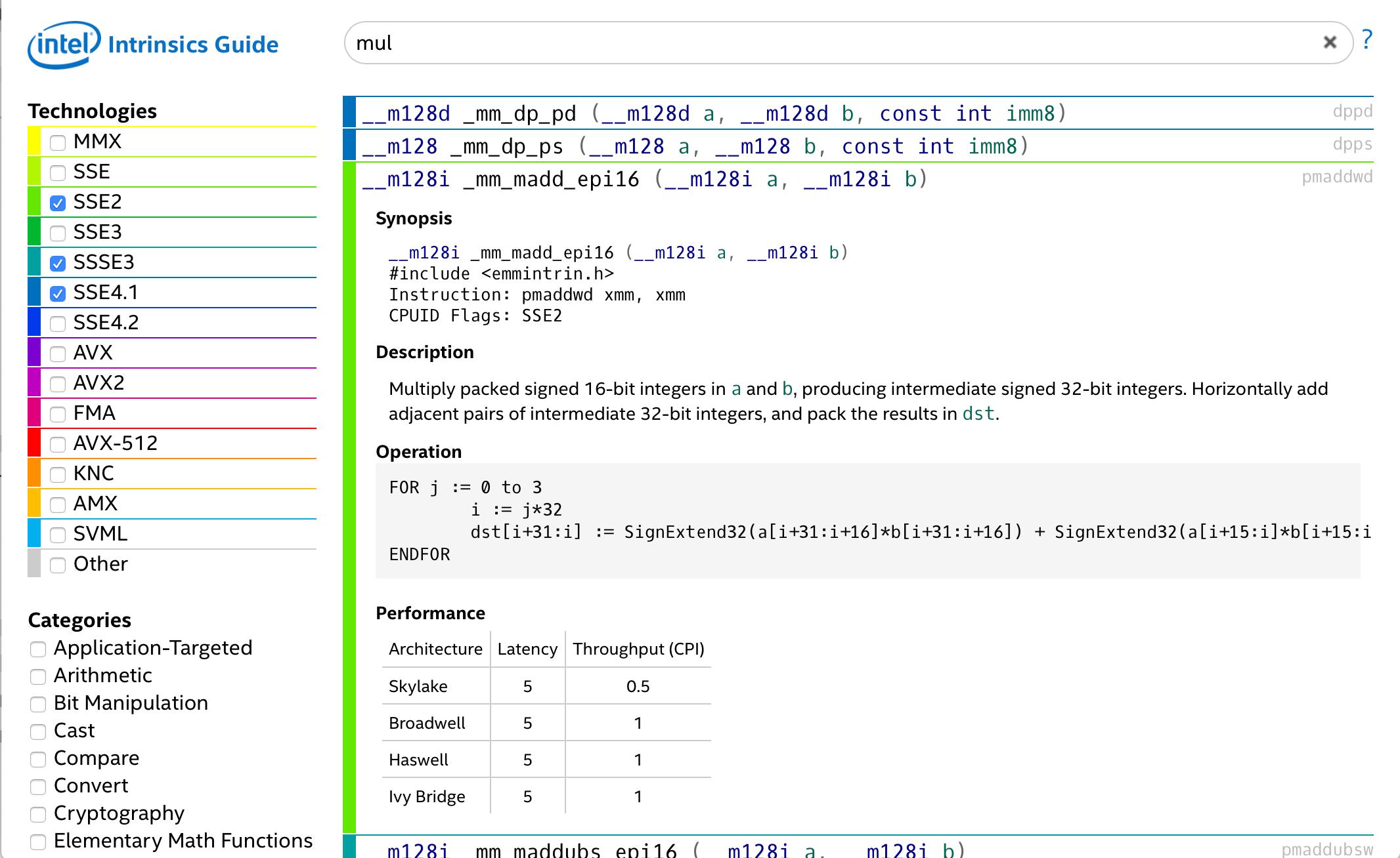 Обзор инструкций ARM NEON для тех, кто знаком с MMX-SSE-AVX - 2