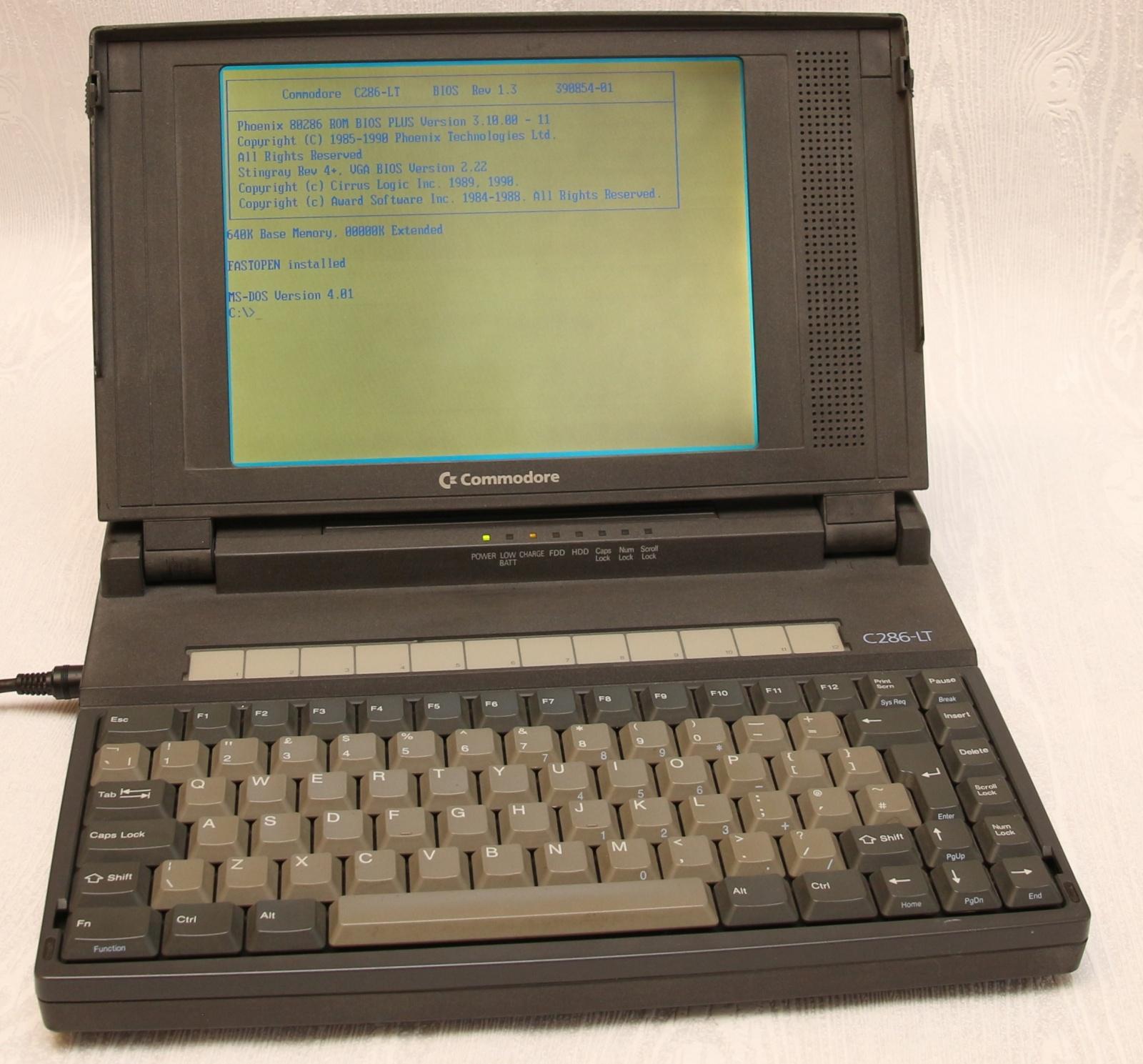 Реставрация ноутбука Commodore 286LT - 1