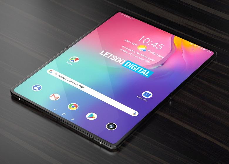 Так выглядит первый сгибающийся планшет Samsung. Появились первые изображения
