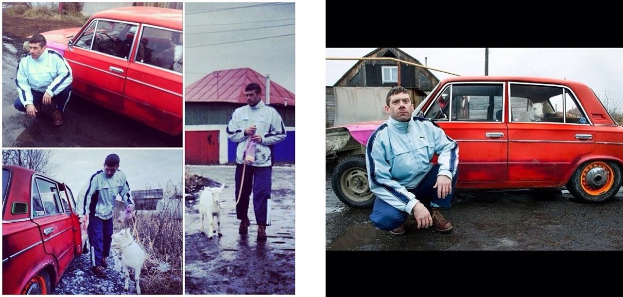 Уэс и Фред в тот приезд здорово угорели. Мы их свозили в деревню в местный колорит, где Уэс (да, на фото он) снимался в видео с козой и жигой