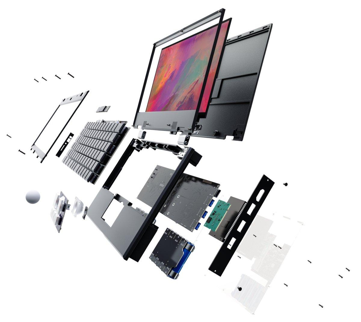 Модульный открытый «ноутбук для параноиков» начали рассылать заказчикам - 2