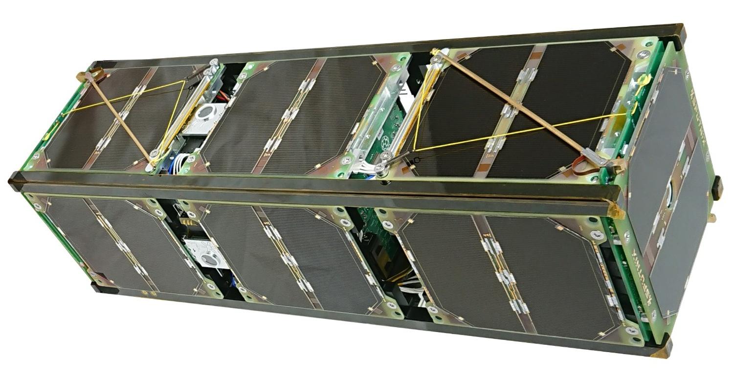 Спутник класса CubeSat размерностью 3U. Фото: Спутникс