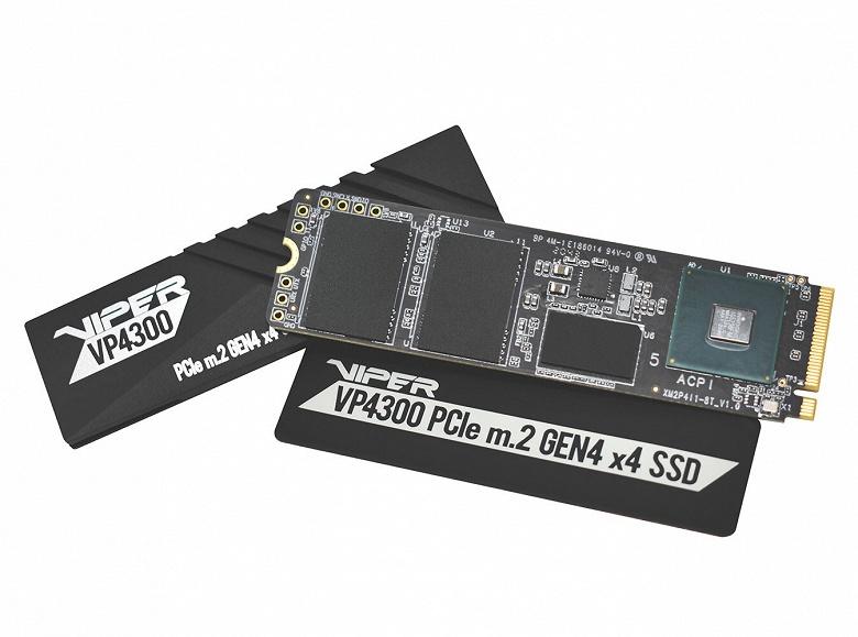 Твердотельные накопители Viper Gaming VP4300 комплектуются теплораспределителем и радиатором