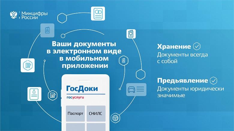 В России анонсировали «ГосДоки»: приложение для хранения и предъявления документов