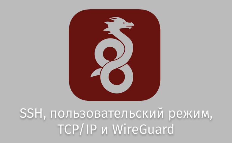 SSH, пользовательский режим, TCP-IP и WireGuard - 1