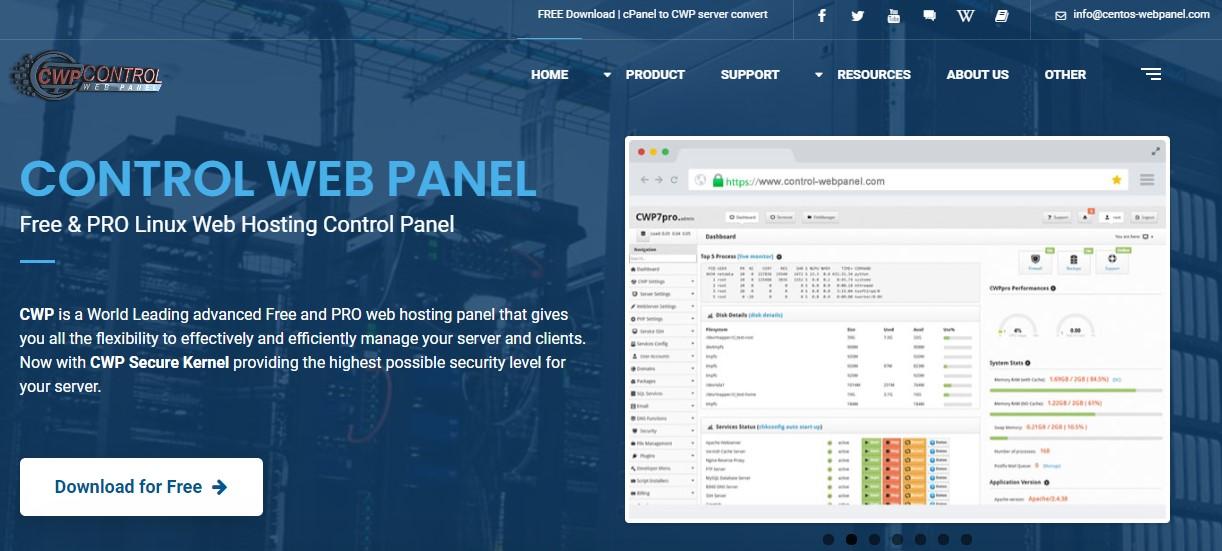 Бесплатные панели управления серверами в 2021 году - 7