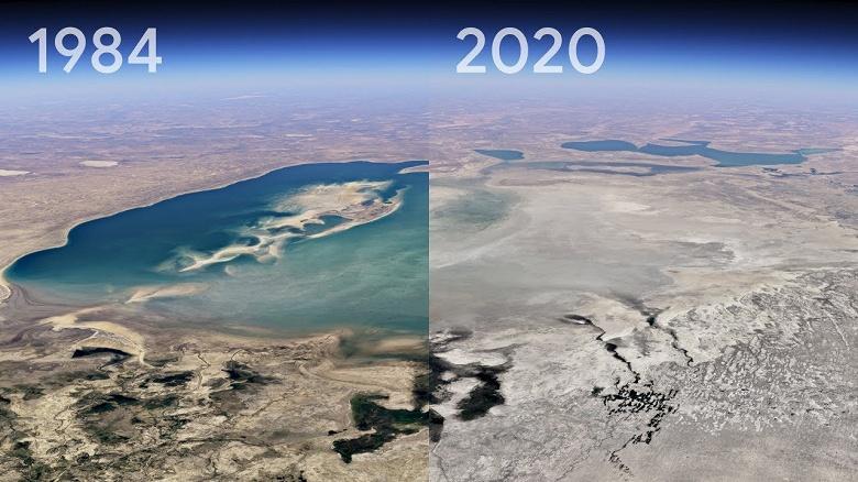 Эпичное обновление Google «Планета Земля». Изменения за почти четыре десятилетия показаны наглядно