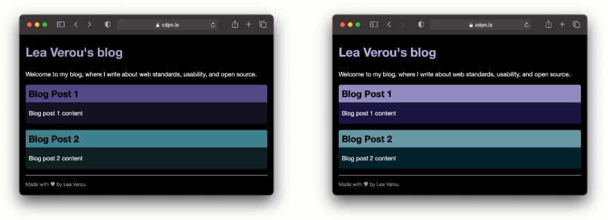 Пользовательские CSS-переменные, инверсия светлоты цветов и создание тёмной темы за 5 минут - 10
