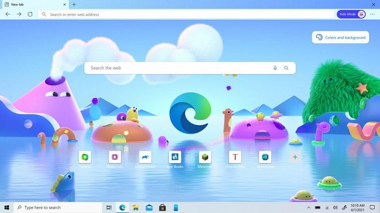 В Microsoft Edge появился детский режим