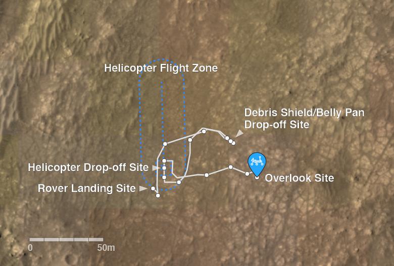 Пока NASA устраняет неполадки на марсианском вертолёте, марсоход Perseverance не скучает