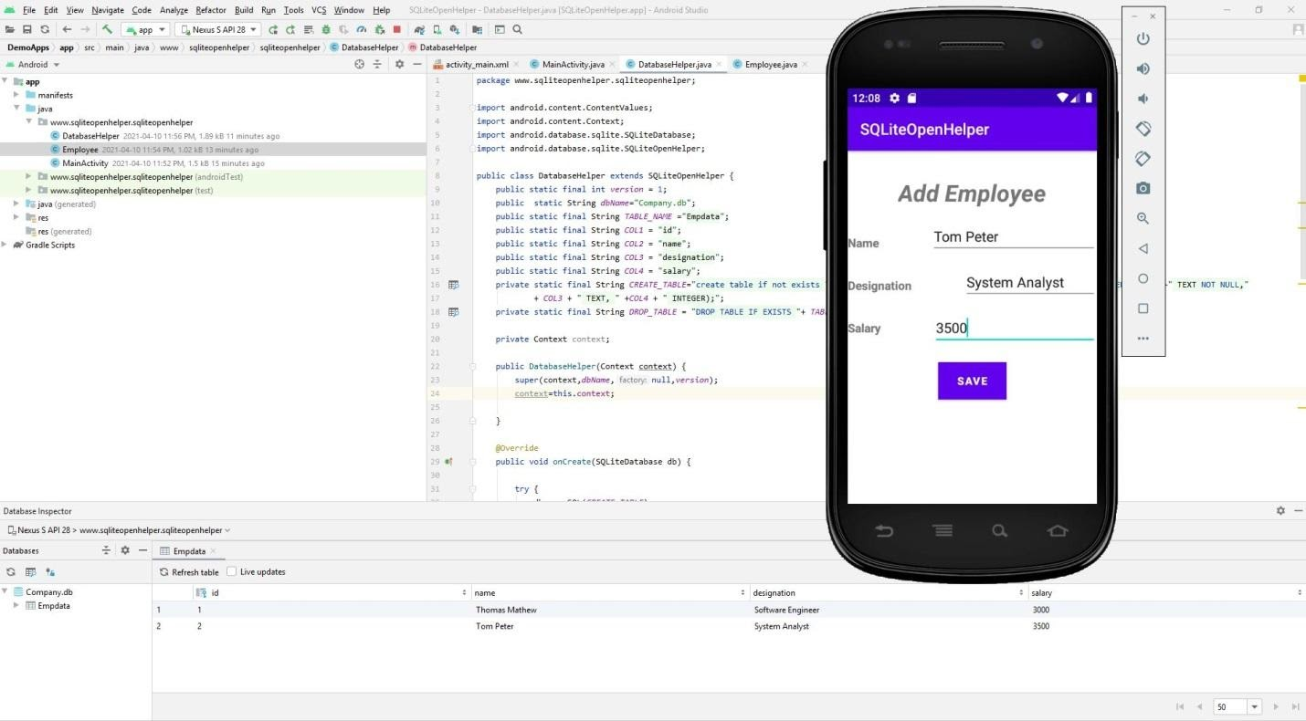 Применение SQLiteOpenHelper и Database Inspector в Android-разработке - 3