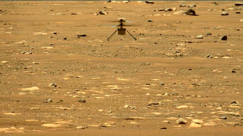 Первый марсианский вертолёт Ingenuity совершил второй успешный полёт на Марсе