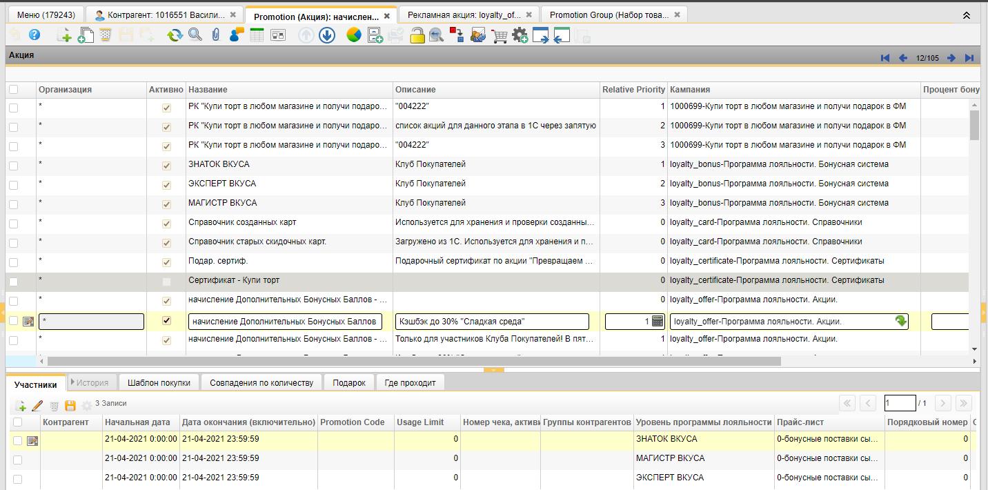Как мы сделали программу лояльности для 300 магазинов «У Палыча» на open source iDempiere ERP-CRM - 4