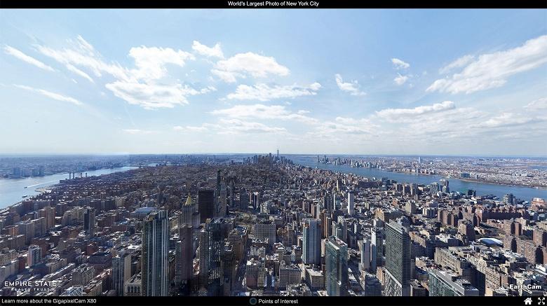 Роботизированная веб-камера EarthCam GigapixelCam X80 позволяет создавать панорамы разрешением 80 000 Мп