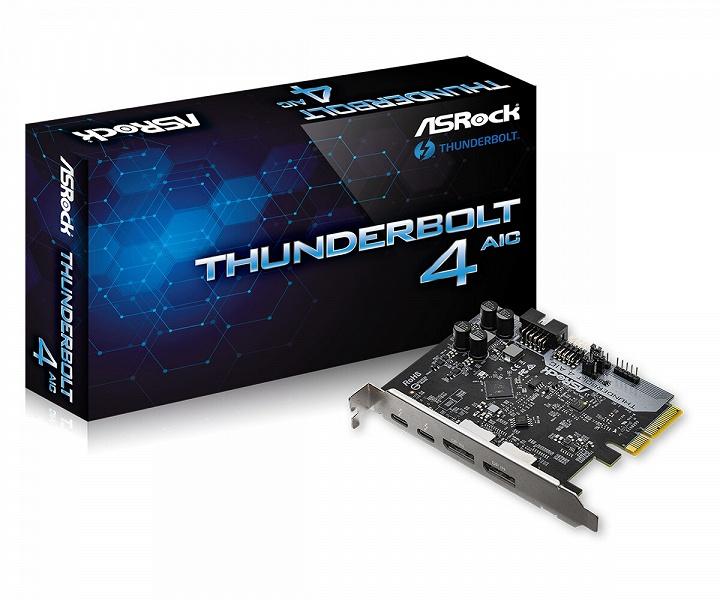 Компания ASRock представила карту расширения с двумя портами Thunderbolt 4