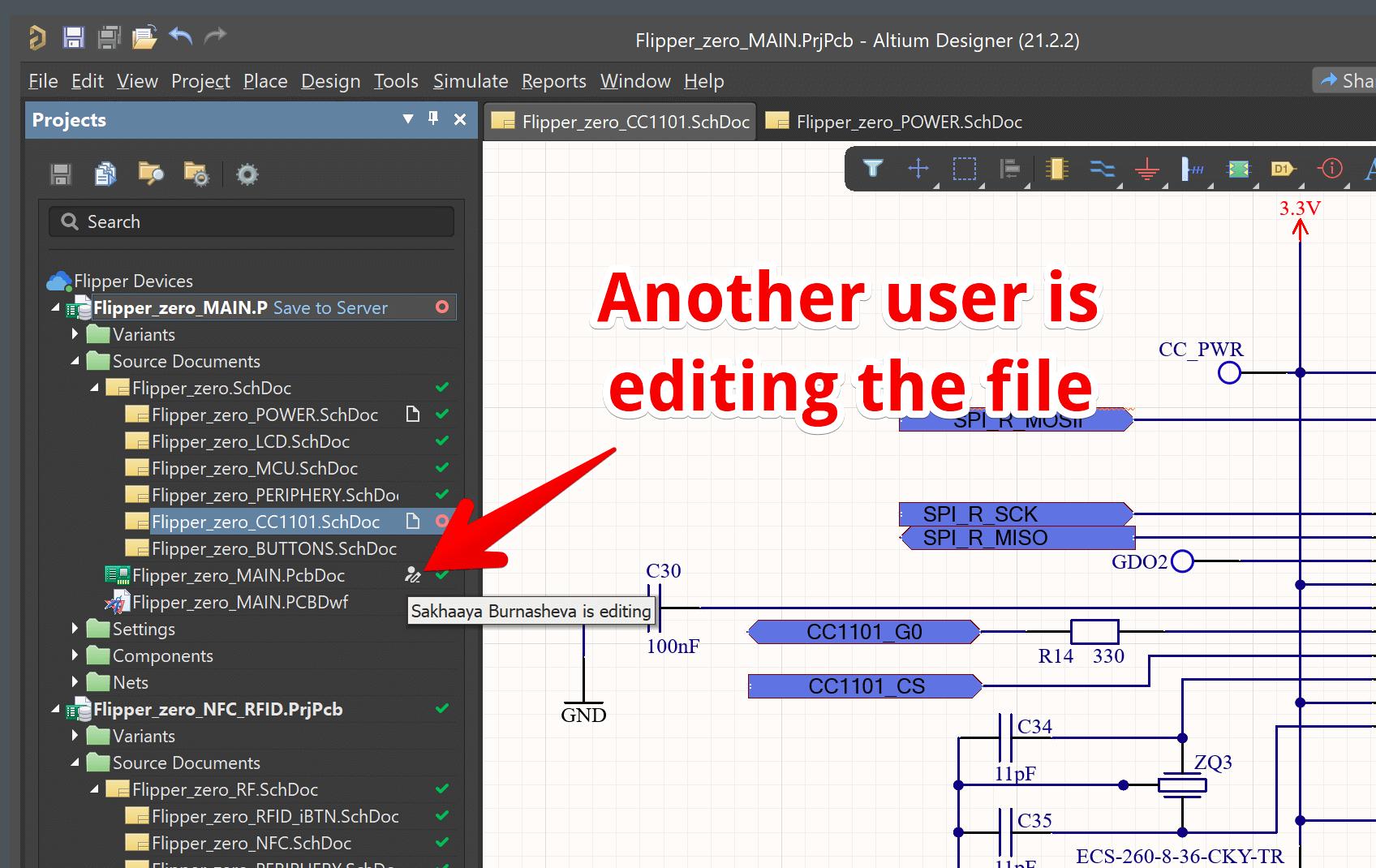 Другой пользователь редактирует файл