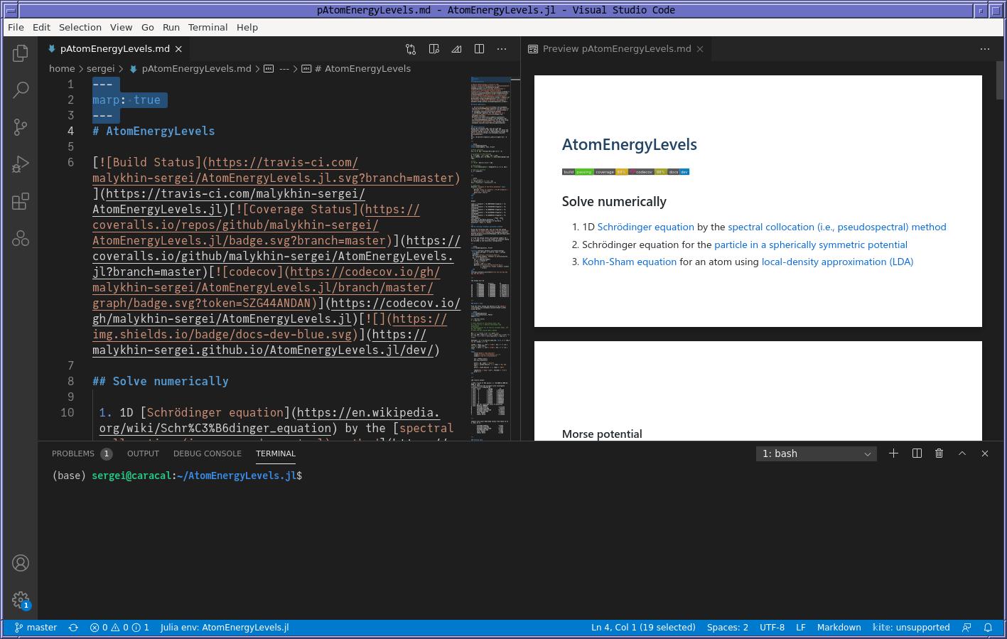Презентация в Visual Studio Code.