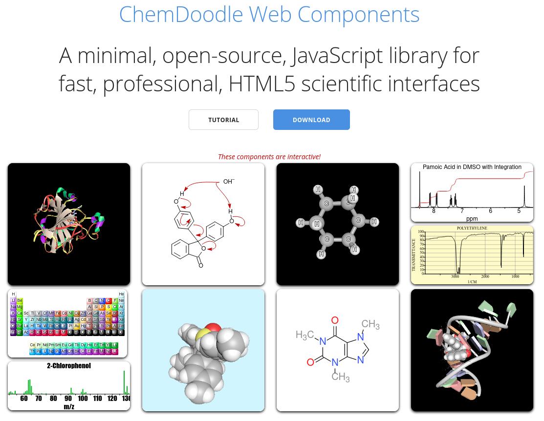 Интерактивные компоненты ChemDoodle.