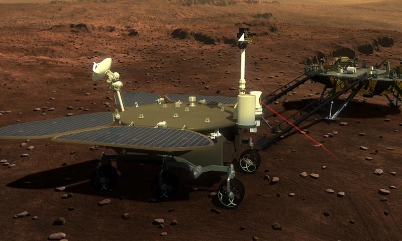 Китай показал рендер суборбитальной транспортной ракеты, крайне похожей на Starship, и дал имя своему марсоходу - 2