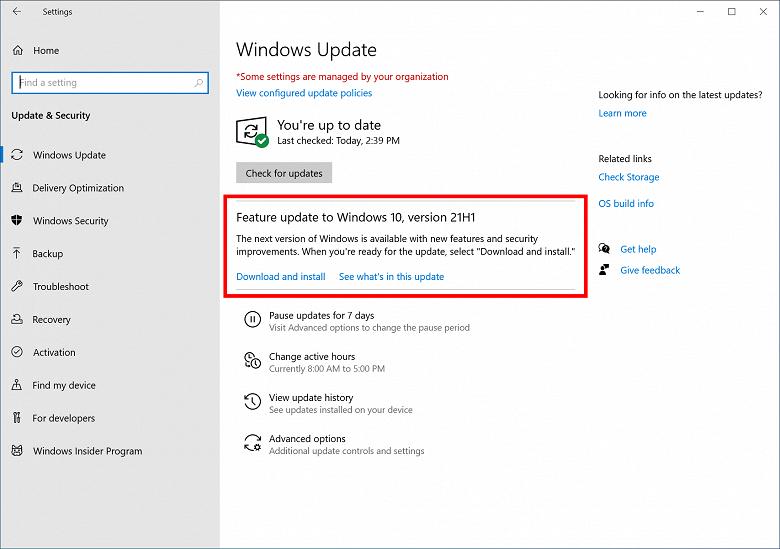 Microsoft завершила разработку следующей версии Windows 10