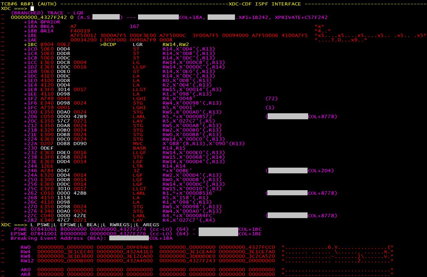 XDC Debugger