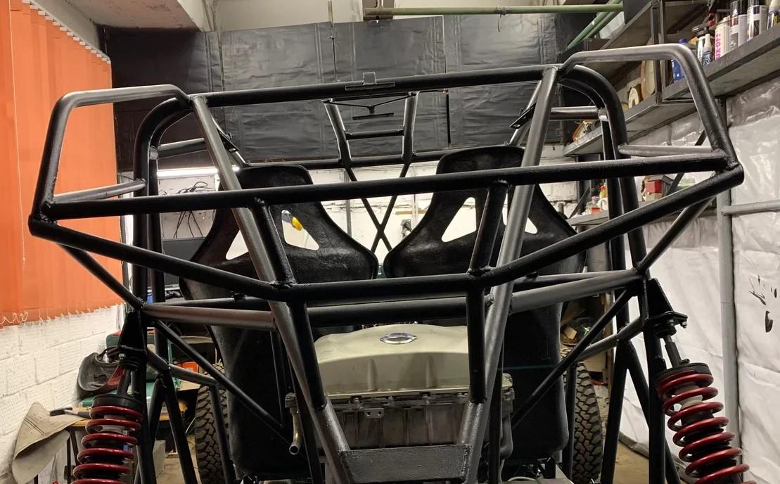 Как сделать самодельный электрический багги с мощным мотором. Часть 3. Тормоза, охлаждение, сидения, селектор, улица - 8