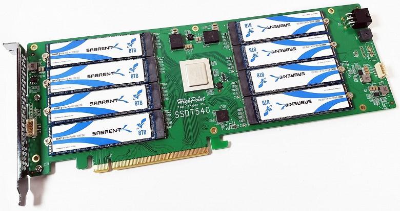 Sabrent готовит к выпуску твердотельный накопитель RocketQ Battleship объемом 64 ТБ, оснащенный интерфейсом PCIe 4.0