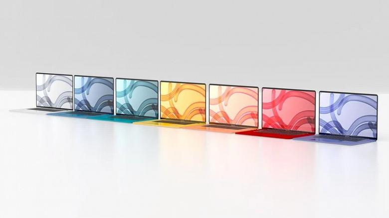 Новые MacBook Air выйдут в целой гамме ярких расцветок