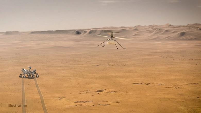 Звуки и видео с Марса: марсоход Perseverance заснял полёт Ingenuity