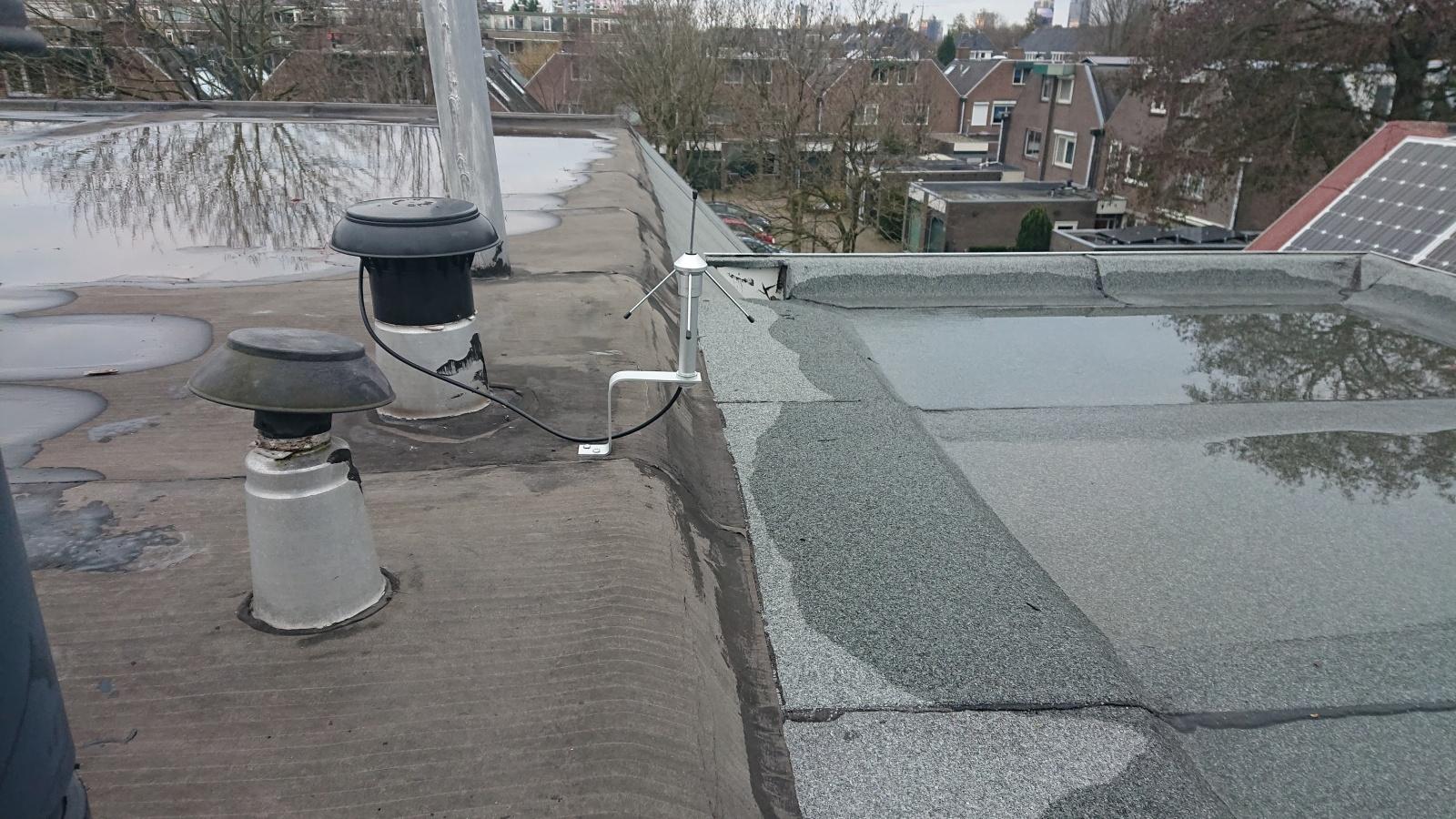 Aurel GP 868 антенна на крыше
