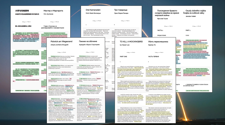 Lingtrain parallel books