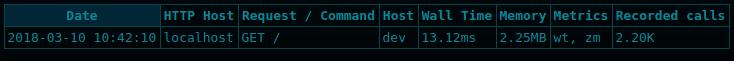 php-spx dumps list