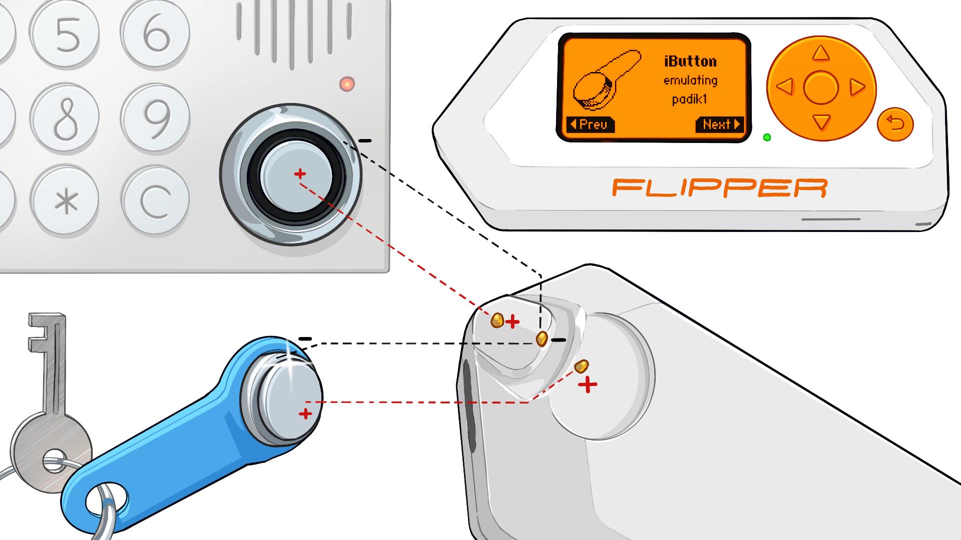 Нахлобучиваем домофонные ключи iButton с помощью Flipper Zero - 1