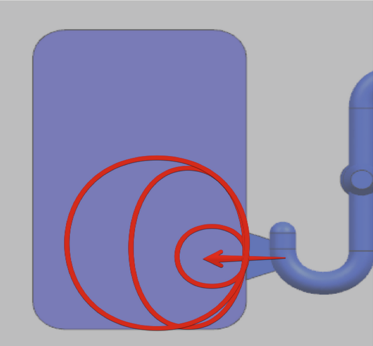Пример создания волн потоком впрыска