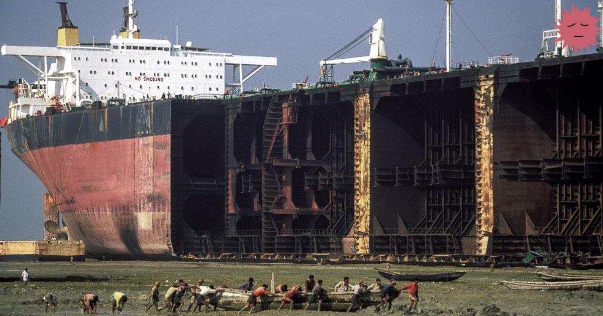 Разделочная кораблей: что не погребено в океане, будет разрезано вручную - 1