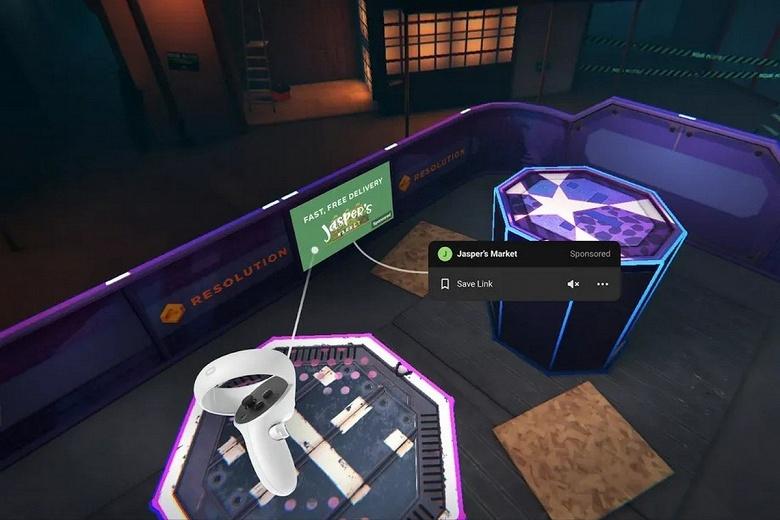 Теперь от рекламы не скрыться и в виртуальной реальности. Facebook тестирует рекламу в играх для Oculus
