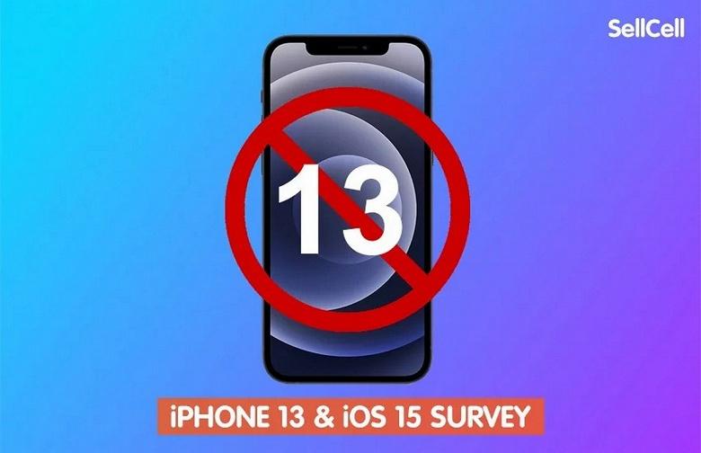 Три четверти пользователей Apple не хотели бы, чтобы новые смартфоны назывались iPhone 13, а 18% и вовсе боятся соответствующего числа