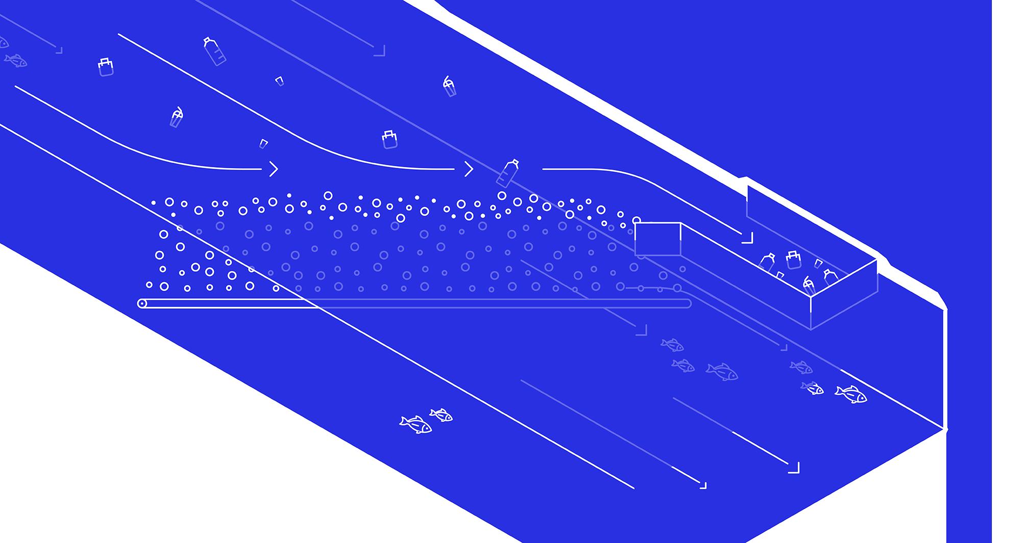 Пузыри — вверх! Речной барьер, который защищает море от пластика - 3