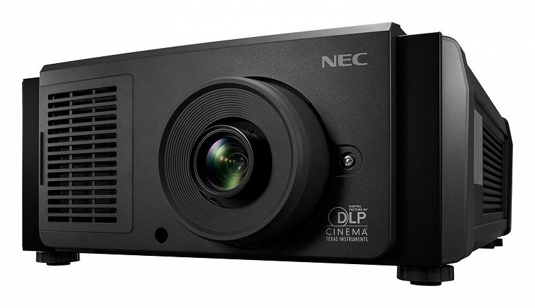 Проектор Sharp NEC Display NC1202L поддерживает разрешение 2K (2048 x 1080 пикселей)