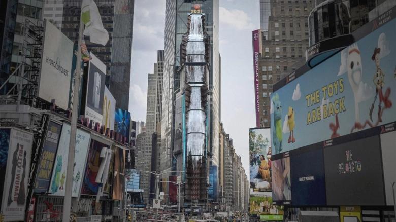 Samsung создала самый высокий в мире цифровой водопад. Инсталляция Waterfall-NYC (2021) запущена в Нью-Йорке