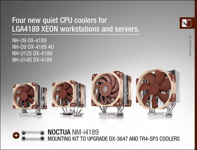 Представлены системы охлаждения Noctua для процессоров Intel Xeon в исполнении LGA4189