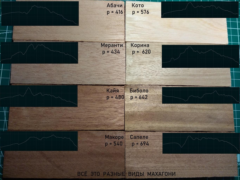 10 разных махагони: исследуем акустические свойства древесины, часть 1 - 1
