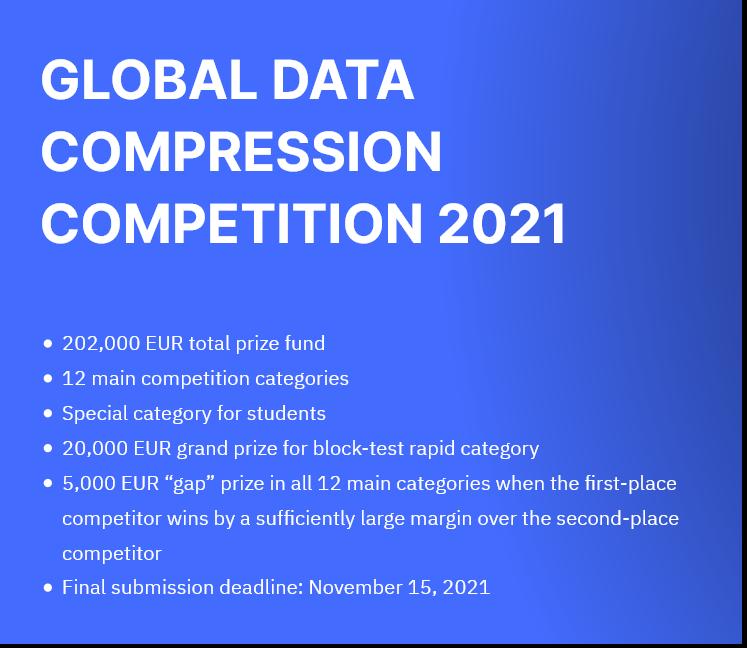 Как развитие алгоритмов сжатия остановилось 20 лет назад, или о новом конкурсе на 200 тысяч евро - 17