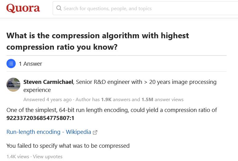 Как развитие алгоритмов сжатия остановилось 20 лет назад, или о новом конкурсе на 200 тысяч евро - 6